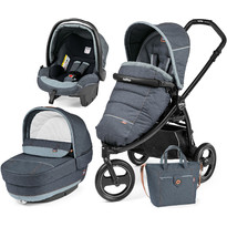 Peg Perego Carucior 3 in 1, Book Scout Matt Black, Elite Modular