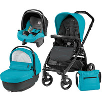Peg Perego Carucior 3 in 1, Book Plus, Black Matt, Sportivo Bloom