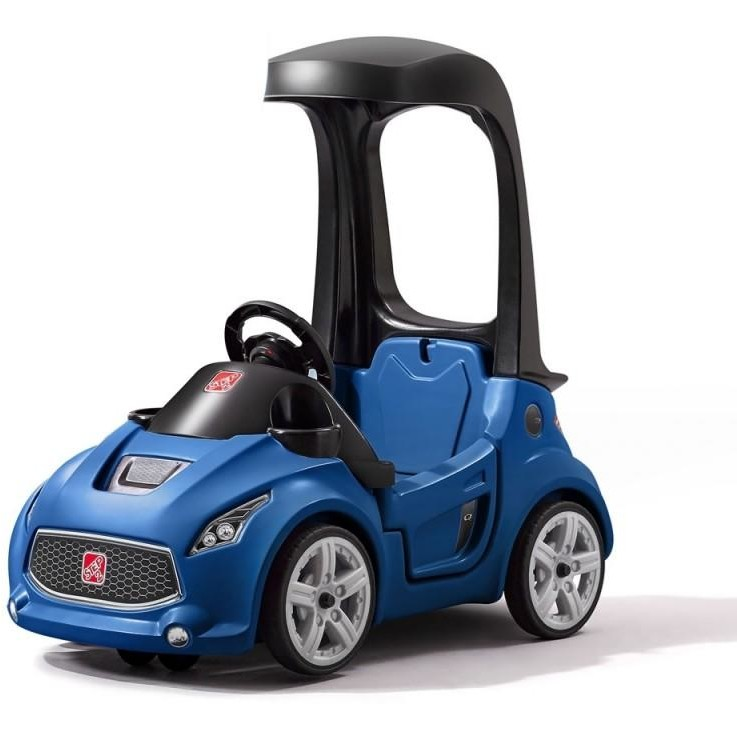Vehicul albastru Turbo Coupe Foot-to-Floor