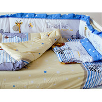 Lenjerie Imagine Safari Blue 4+1 Piese 120 cm x 60 cm