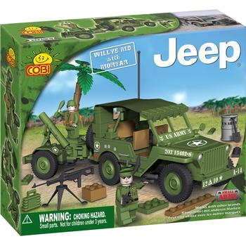 Cobi Set de construit Jeep Willys M38 cu mortier