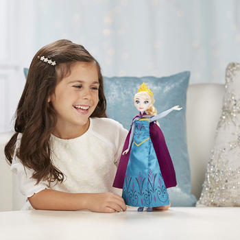 Hasbro Disney Frozen - Papusa Elsa cu Rochita 2 in 1
