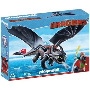 Playmobil Hiccup si Toothless