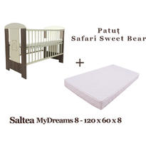 Klups Patut copii Safari Sweet Bear + Saltea MyDreams 8