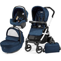 Peg Perego Carucior 3 in 1 Book Plus 51 S Black and White Sportivo Geo