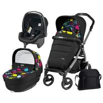 Peg Perego Carucior 3 In 1, Book Plus 51 S, Black, Completo Elite Urban Denim