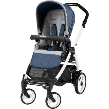 Peg Perego Carucior 3 In 1, Book Plus 51, Black and White, Completo Elite Urban Denim