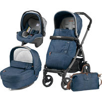 Peg Perego Carucior 3 In 1, Book Plus 51, Black, Completo Elite Urban Denim
