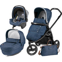 Peg Perego Carucior 3 In 1 Book Scout, Matt Black, Elite Modular Urban Denim