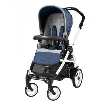 Peg Perego Carucior 3 In 1 Book Plus S Black and White, Completo Elite, Urban Denim