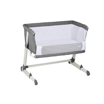 BabyGO Patut cosleeper 2in1 together grey