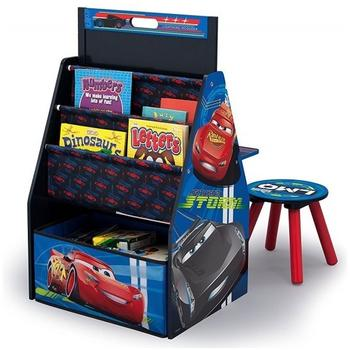 Delta Children Set 2 in 1 organizator si birou cu tablita si scaun Cars 3 Activity Center