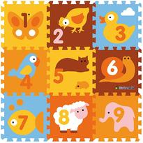 Knorrtoys Covor puzzle din spuma Animals 9 piese