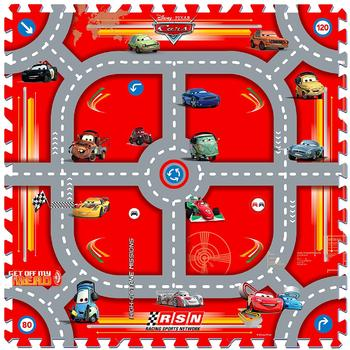 Knorrtoys Covor puzzle din spuma Cars 3 Modular Race 9 piese