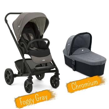 Joie Set Carucior multifunctional 2 in 1 Chrome Foggy Gray + Landou Chromium