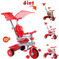 Baby Trike Tricicleta 4 in 1 Deluxe Red