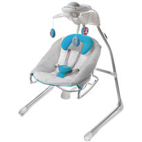Kinderkraft Leagan si balansoar biredirectinal  2 in 1 GINO BLUE cu conectare la priza