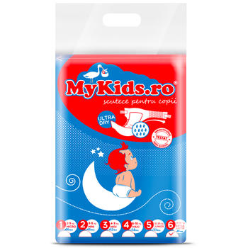 Scutece Copii MyKids New Junior+  6 (12-30 KG ) 46 Buc
