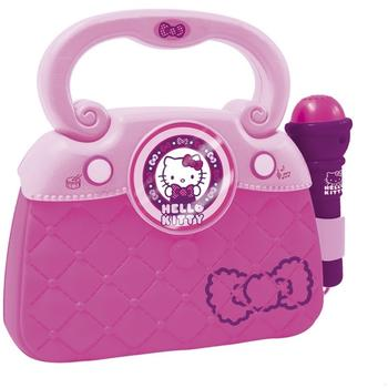Reig Musicales Geanta roz cu microfon si amplificator Hello Kitty