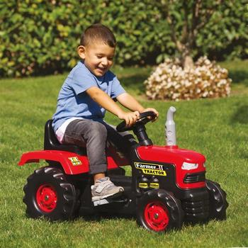 BabyGO Tractor cu pedale Red