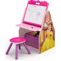 Delta Children Set 2 in 1 organizator si birou cu tablita si scaun Disney Princess Activity Center