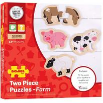 Bigjigs Puzzle - animale de la ferma