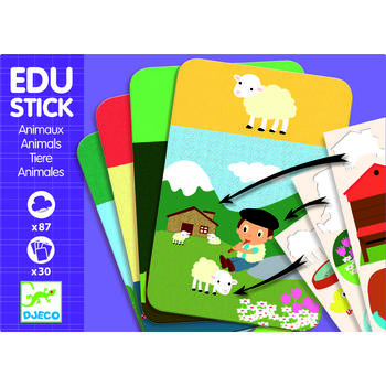 Djeco Edu-Stick Stickere educative cu Animale