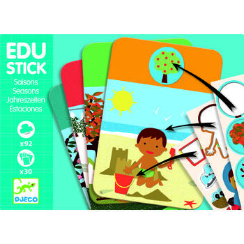 Djeco Edu-Stick Stickere educative cu Anotimpuri