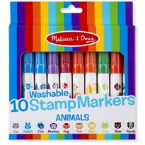 Set 10 stampile marker lavabile Animale