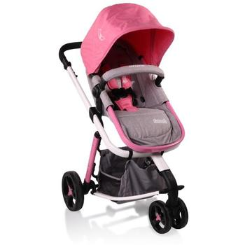 Cangaroo Carucior Copii 3 in 1 Sarah Grey and Pink