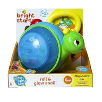 Bright Starts Jucarie 2 in 1 Roll and Glow Snail