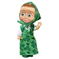 Papusa Simba Masha and the Bear 12 cm Masha in rochie verde