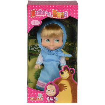 Papusa Simba Masha and the Bear 12 cm Masha in rochie albastru