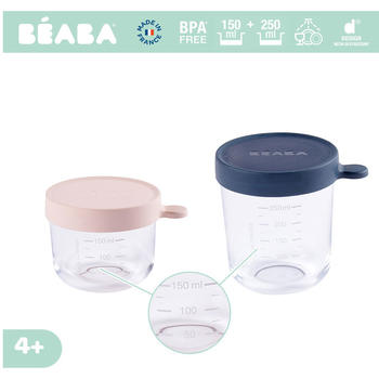 Beaba Set 2 recipiente sticla 150/ 250 ml bleu