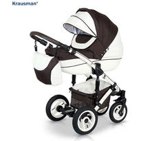 Krausman Carucior 3 in 1 Sendo White-Brown