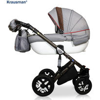 Krausman Carucior 3 in 1 Jools Eclipse Grey-Brown