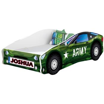 MyKids Pat Tineret Race Car 07 Army-160x80