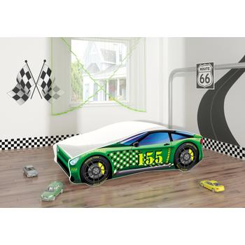 MyKids Pat Tineret Race Car 04 Green-160x80