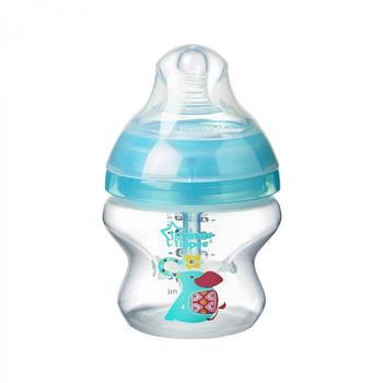 Biberon Advanced Anti-colic cu Sistem de Ventilatie, Tommee Tippee, 150 ml, elefant, 1 buc