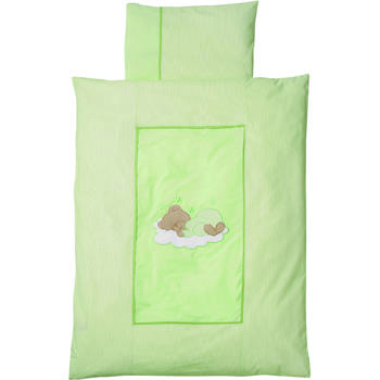 Easy Baby Lenjerie Pat Sleeping Bear Green 100/135 cm