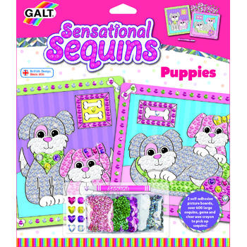 GALT Sensational Sequins: Set 2 tablouri cu catelusi - New edition
