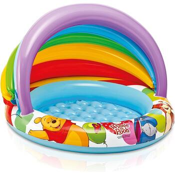 Intex Piscina gonflabila copii cu parasolar Winnie The Pooh 102 x 69 cm