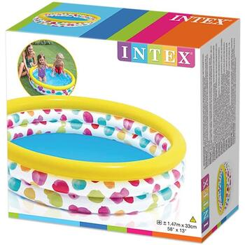 Intex Bazin 3 inele colorate Cool Dots 147 x 33cm