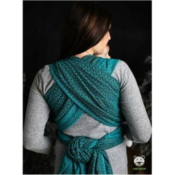 Luna Dream - Sling 3.6 m, 100% bumbac, Little Hearts, Turquoise