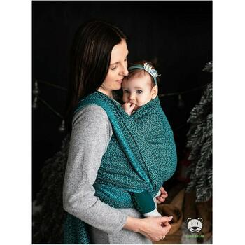 Luna Dream - Sling 5.2 m, 100% bumbac, Little Hearts, Turquoise