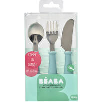 Beaba Set 3 tacamuri inox - Airy Green