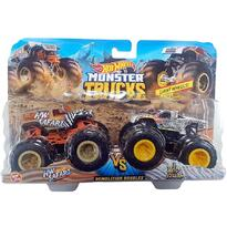 Set by Mattel Monster Trucks Demolition Doubles HW Safari vs Wild Streak