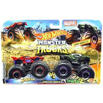 Set by Mattel Monster Trucks Demolition Doubles Spiderman vs Hulk