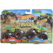 Set by Mattel Monster Trucks Demolition Doubles Raphael vs Leonardo
