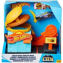 Pista de masini by Mattel City Downtown Burger Dash cu masinuta